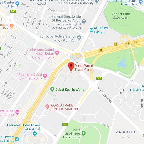 Dubai World Trade Centre map
